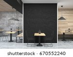 dark gray wall cafe interior... | Shutterstock . vector #670552240