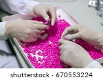 quality control workers... | Shutterstock . vector #670553224