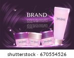 cosmetic containers with...   Shutterstock .eps vector #670554526