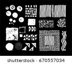 set of vector geometric... | Shutterstock .eps vector #670557034