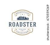 hot rod car logo template... | Shutterstock .eps vector #670559269