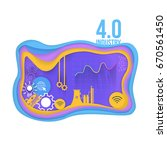 industry 4.0 concept bubbles... | Shutterstock .eps vector #670561450