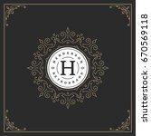 ornament logo design template...   Shutterstock .eps vector #670569118