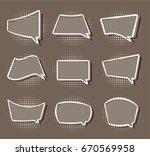 comics stiker simple label... | Shutterstock . vector #670569958