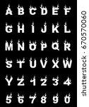 fire alphabet  cartoon style ... | Shutterstock . vector #670570060