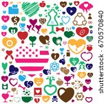 colorful heartbeat love icon... | Shutterstock .eps vector #670570840