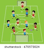 football soccer match for... | Shutterstock .eps vector #670573024