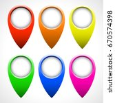 color map pointer vector set... | Shutterstock .eps vector #670574398