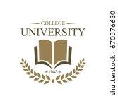 university education logo design | Shutterstock .eps vector #670576630