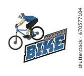 mountain bike logo design... | Shutterstock .eps vector #670577104