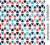red  blue spot seamless pattern ... | Shutterstock .eps vector #670580239