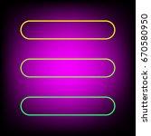 hamburger menu bar line art... | Shutterstock .eps vector #670580950