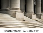 classic columns and marble... | Shutterstock . vector #670582549