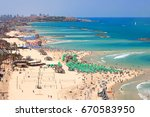 mediterranean seaside of tel... | Shutterstock . vector #670583950