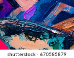 hand drawn oil painting....   Shutterstock . vector #670585879