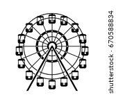 ferris wheel icon | Shutterstock .eps vector #670588834