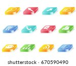 3d button icons for web design | Shutterstock .eps vector #670590490