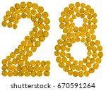 Arabic Numeral 28  Twenty Eigh...