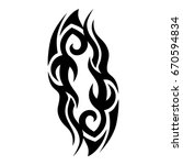 tribal tattoo art designs.... | Shutterstock .eps vector #670594834