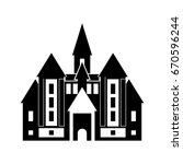 castle icon | Shutterstock .eps vector #670596244