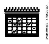 calendar icon | Shutterstock .eps vector #670598164