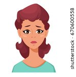 face expression of a woman ... | Shutterstock .eps vector #670600558