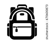 backpack icon   Shutterstock .eps vector #670600873