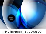 overlapping circles on glowing... | Shutterstock .eps vector #670603600