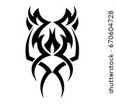 tribal tattoo art designs.... | Shutterstock .eps vector #670604728