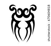 tattoo tribal vector design.... | Shutterstock .eps vector #670604818