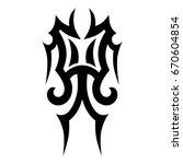 tribal tattoo art designs.... | Shutterstock .eps vector #670604854