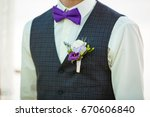 boutonniere for the groom ...   Shutterstock . vector #670606840