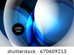overlapping circles on glowing... | Shutterstock . vector #670609213