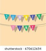 celebration pennants icon ... | Shutterstock .eps vector #670612654