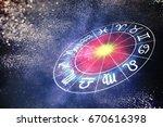 astrology and horoscopes...   Shutterstock . vector #670616398