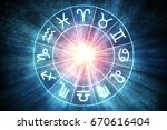 astrology and horoscopes... | Shutterstock . vector #670616404