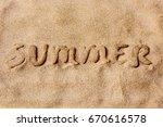 The Word Summer Written With...