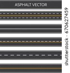 asphalt  a set of road types... | Shutterstock .eps vector #670627459