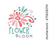 flower bloom logo template... | Shutterstock .eps vector #670628254