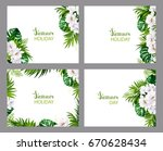 set of four holiday banners... | Shutterstock .eps vector #670628434