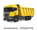 Tipper Dump Truck Isolated. 3d...