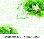 summer background with seasonal ... | Shutterstock .eps vector #670640350