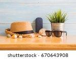 men's accessories with brown...   Shutterstock . vector #670643908