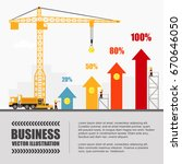crane and graph building.... | Shutterstock .eps vector #670646050