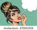 pop art vintage comic style... | Shutterstock .eps vector #670652326