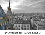 view on vienna old town from... | Shutterstock . vector #670652650