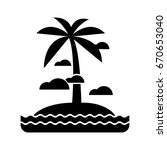 island icon | Shutterstock .eps vector #670653040
