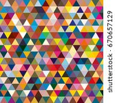 abstract geometric colorful...   Shutterstock .eps vector #670657129
