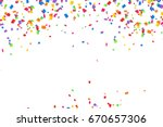 bright colorful vector confetti ... | Shutterstock . vector #670657306