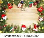 christmas background and... | Shutterstock . vector #670660264